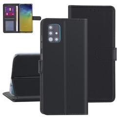 Samsung Galaxy A51 zwart Booktype hoesje - Kaarthouder