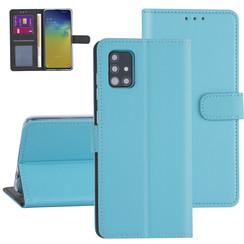 Samsung Galaxy A51 Lichtblauw Booktype hoesje - Kaarthouder