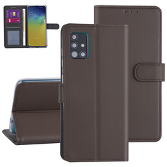 Samsung Galaxy A51 Bruin Booktype hoesje - Kaarthouder
