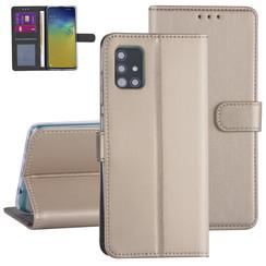 Samsung Galaxy A71 Gold Book type case - Card holder