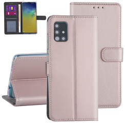 Samsung Galaxy A71 Rose Gold Booktype hoesje - Kaarthouder