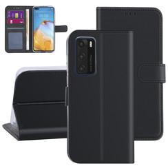 Huawei Huawei P40 Black Book type case - Card holder