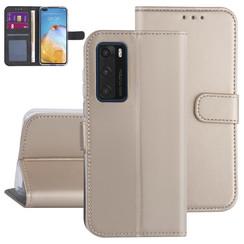 Huawei Huawei P40 Gold Book type case - Card holder