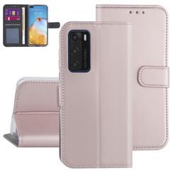 Huawei Huawei P40 Rose Gold Book type case - Card holder