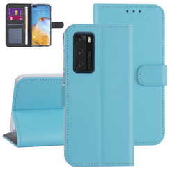 Huawei Huawei P40 Light blue Book type case - Card holder