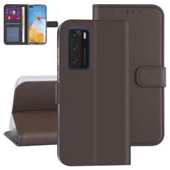 Huawei Huawei P40 Brown Book type case - Card holder