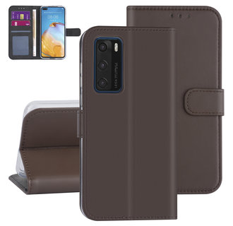 Huawei Huawei P40 Brown Book type case - Card holder