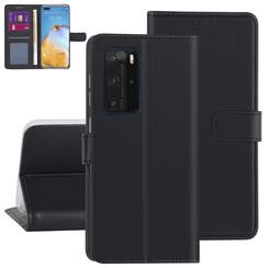 Huawei Huawei P40 Pro zwart Booktype hoesje - Kaarthouder