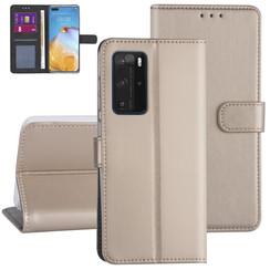 Huawei Huawei P40 Pro Gold Book type case - Card holder