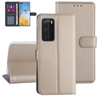 Huawei Huawei P40 Pro Gold Book type case - Card holder