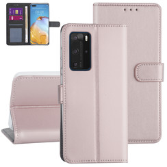 Huawei Huawei P40 Pro Rose Gold Book type case - Card holder