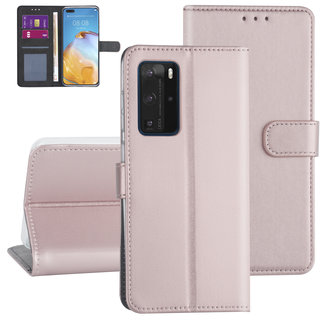 Huawei Huawei P40 Pro Rose Gold Book type case - Card holder