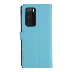 Huawei Huawei P40 Pro Lichtblauw Booktype hoesje - Kaarthouder