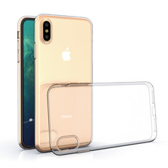 Apple iPhone X-Xs Transparant Backcover hoesje - silicone