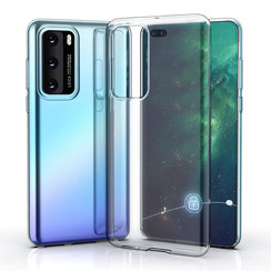 Huawei P40 Transparant Backcover hoesje - silicone