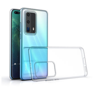 Huawei P40 Pro Plus Transparant Backcover hoesje - silicone
