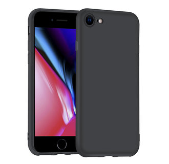 Apple iPhone 7-8 zwart Backcover hoesje - silicone