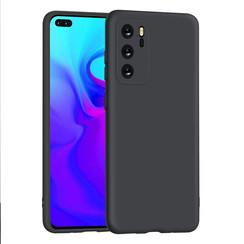 Huawei P40 zwart Backcover hoesje - silicone