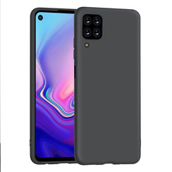 Huawei P40 Lite zwart Backcover hoesje - silicone
