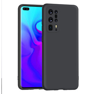 Huawei P40 Pro plus zwart Backcover hoesje - silicone
