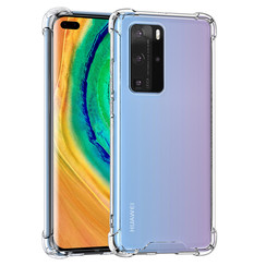 Huawei P40 Pro Transparent Back cover case - Silicone