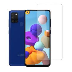 Samsung Galaxy A21S Transparant Screenprotector - Gehard glas