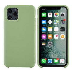 Apple iPhone 11 Pro Licht groen Backcover hoesje - silicone