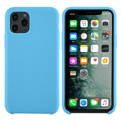 Apple iPhone 11 Pro Lichtblauw Backcover hoesje - silicone