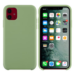 Apple iPhone 11 Licht groen Backcover hoesje - silicone