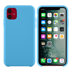 Apple iPhone 11 Lichtblauw Backcover hoesje - silicone
