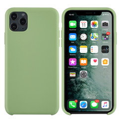 Apple iPhone 11 Pro Max Licht groen Backcover hoesje - silicone
