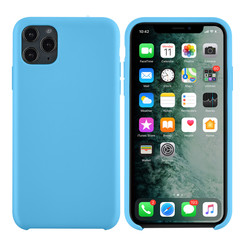 Apple iPhone 11 Pro Max Lichtblauw Backcover hoesje - silicone
