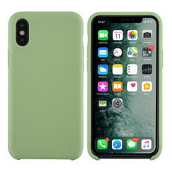 Apple iPhone X-Xs Licht groen Backcover hoesje - silicone