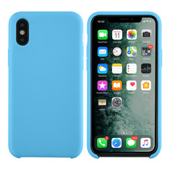Apple iPhone X-Xs Lichtblauw Backcover hoesje - silicone