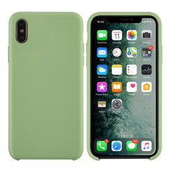 Apple iPhone Xs Max Licht groen Backcover hoesje - silicone