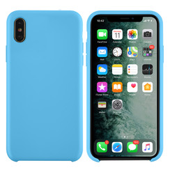 Apple iPhone Xs Max Lichtblauw Backcover hoesje - silicone