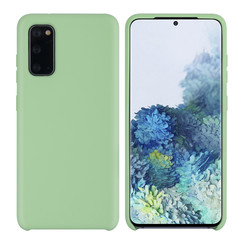 Samsung Galaxy S20 Licht groen Backcover hoesje - silicone
