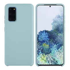 Samsung Galaxy S20 Plus Lichtblauw Backcover hoesje - silicone