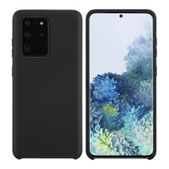 Samsung Galaxy S20 Ultra zwart Backcover hoesje - silicone