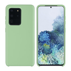 Samsung Galaxy S20 Ultra Licht groen Backcover hoesje - silicone