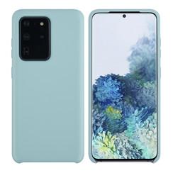 Samsung Galaxy S20 Ultra Lichtblauw Backcover hoesje - silicone