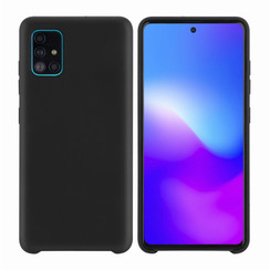 Samsung Galaxy A71 zwart Backcover hoesje - silicone