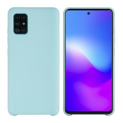 Samsung Galaxy A71 Lichtblauw Backcover hoesje - silicone