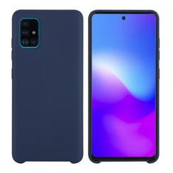 Samsung Galaxy A71 Diepblauw Backcover hoesje - silicone