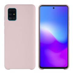 Samsung Galaxy A71 Sand Pink Backcover hoesje - silicone