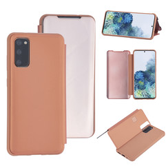 Samsung Galaxy S20 Rose Gold Booktype hoesje - Hard plastic