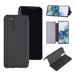 Samsung Galaxy S20 Plus zwart Booktype hoesje - Hard plastic