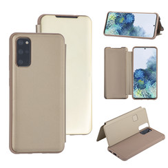 Samsung Galaxy S20 Plus Goud Booktype hoesje - Hard plastic