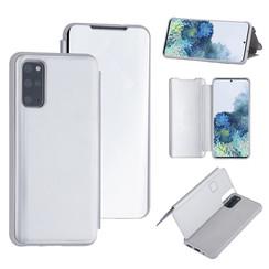 Samsung Galaxy S20 Plus Zilver Booktype hoesje - Hard plastic