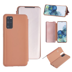Samsung Galaxy S20 Plus Rose Gold Booktype hoesje - Hard plastic
